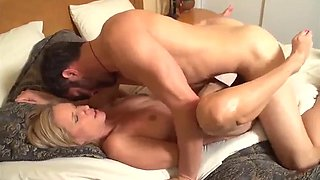 Sleeping son fuck by mom on her bed
