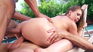 Big cock double penetration fuck with Kagney Linn Karter