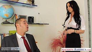 Gorgeous secretary Brandy Aniston fucks her handsome boss