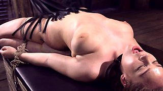 The submissive lady gets to explore some of her dark BDSM desires