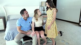Mom And Her Daughter With A Friend Decided To Arrange Real Group Porn With Charlotte Sins, Johnny Castle And Eva Long