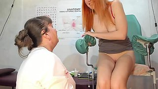 Milf doctor spreading and checking my pussy