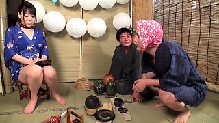 Delightful Japanese housewives getting fucked by older men