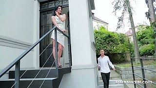 Whore Czech wife Celine Noiret is cheating on her husband with nextdoor dude