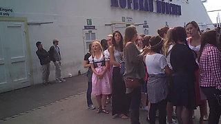 Oktoberfest toilet queue