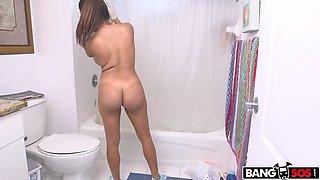 Big tit Latina maid takes dick