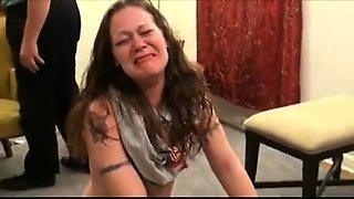 Naughty amateur brunette gets her lovely ass spanked hard