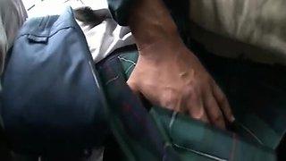 censored soft ass asian schoolgirl fuck on train&cum on ass