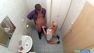 Serious drilling for the hot nurse filmed in secret