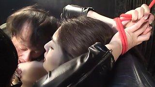 Fabulous Japanese whore Megu Fujiura in Crazy gangbang, bdsm JAV video