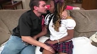 Ebony Teen Slut Takes Creamy Load