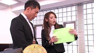 Hottest Japanese chick Ayu Sakurai in Horny cougar, secretary JAV clip