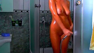 sexy body girl in the shower