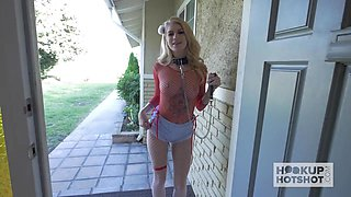 Adventurous blonde chick Arya Fae deserves some anal from Bryan Gozzling