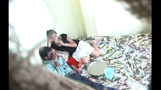 Drunk College girl fucked by Classmate boy on hidden cam