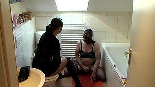 German Mistress Ashtray Toilet Humiliation