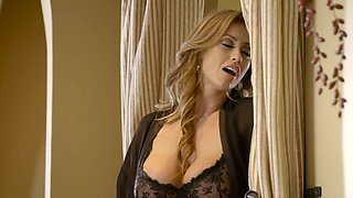 A milf Latina with huge tits is fucked in her tight little slit