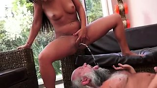 Kinky guys taking huge loads of hot piss in their mouths