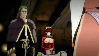 Bondage hentai bride with bigtits gets punishment