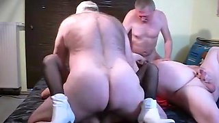 Incredible homemade Group Sex, Bisexual porn movie