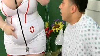 hot nurse sashaa takes care of a patient