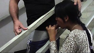 Dazzling Thai babe offers a masked guy a wonderful blowjob