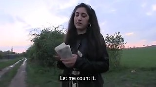 ARAB SYRIAN GIRL CHEATED AND ANALLY FUCKED BY CZECH GUY OUTDOOR