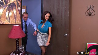 Party turns into threesome fucking with Ava Addams and Lisa Ann