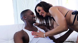 BBC loving MILF Lisa Ann picked up and fucked after blowjob