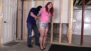 Freshie mistakenly allows herself to be taped and gagged in her tights