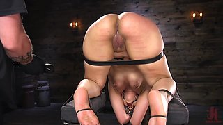 The curvy white chick is deep into some kinky and BDSM stuff