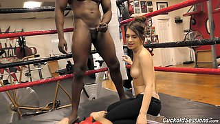 Joseline Kelly loves bouncing on a black man's dick in a ring