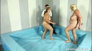 Nude oil wrestling