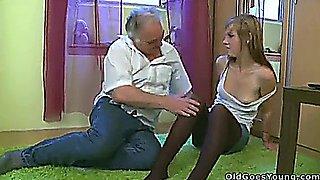 Alexis Crystal - Blondie Teen with a pervert Oldman