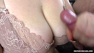 Amateur Teen Big Ass in pantyhose and Big Tits assjob