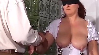 extreme lesson with busty pierced german milf