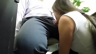 Hidden Cam Boss Getting His Dick Sucked Off by Secretary