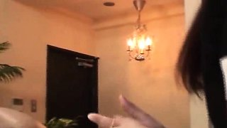 Subtitled CFNM Japanese milf anal massage with handjob