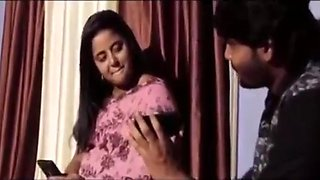 Hot indian housewife seduceing her dever end up in the bed with him