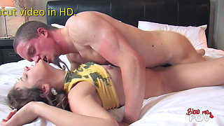Blow Me POV - Young Amateur Couple First Ever Porn Video