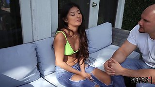 Mexican Bald Daddy Screwed Stepdaughter