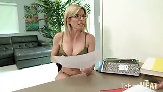 Stepmom Cory Helps Her Stepson with His School Work