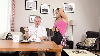 Tricky Old Teacher - Teacher gives sexy student private sex