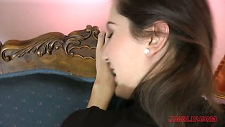 Naughty young brunette Nicole is fucked by old fart Jim Slip in hot pov clip