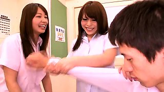 Big breasted Japanese teens getting drilled in the classroom