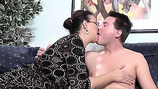 mature wife loves having fun with a young cock