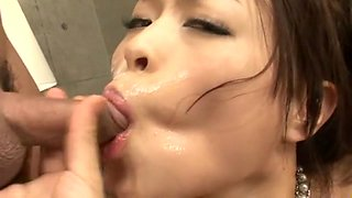 Reiko Nakamori Uncensored Hardcore Video with Gangbang, Creampie scenes