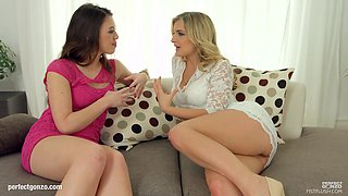 Jemma Valentine and Tiffany Doll in fisting lesbian scene by FistFlush
