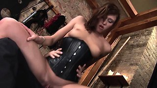 Hot brunette Bellina loves pounding from behind