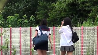 Kinky japanese teens piss outdoors